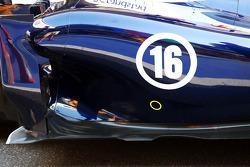 Williams FW35: detalhe lateral e do assoalho