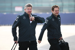 Ross Brawn, Teambaas Mercedes AMG F1 met Aldo Costa, Mercedes AMG F1 Engineering Director