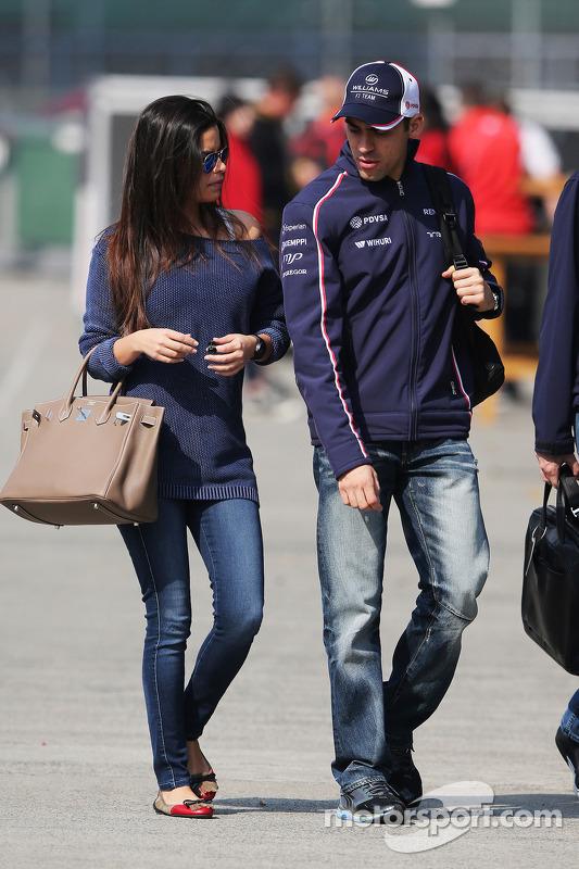 Pastor Maldonado, Williams com sua esposa Gabriele Tarkanyi