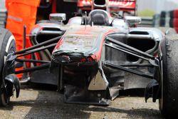 La McLaren MP4-28 de Sergio Pérez, McLaren
