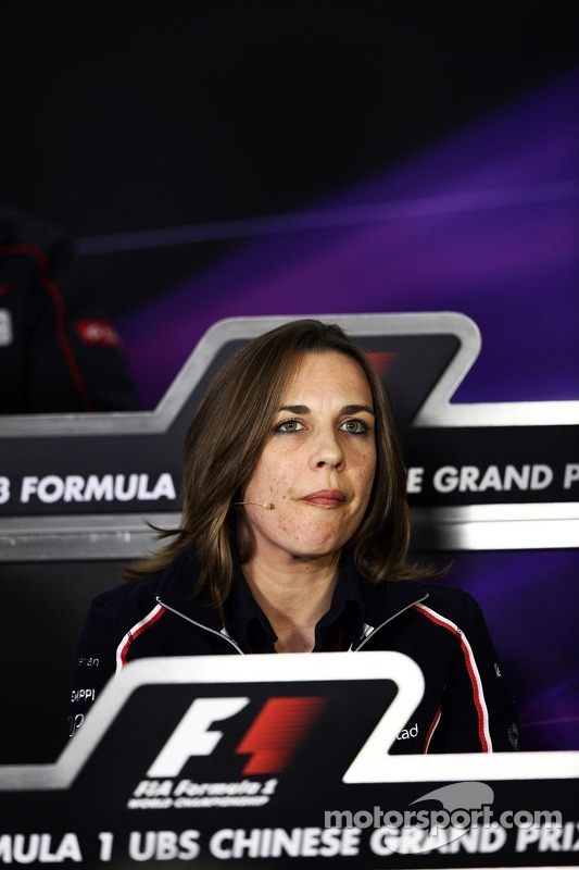 Claire Williams, Williams Deputy Team Principal in the FIA Press Conference