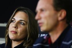 Claire Williams, vice-diretora da equipe Williams, e Christian Horner, chefe de equipe da Red Bull Racing, da Conferência de Imprensa FIA