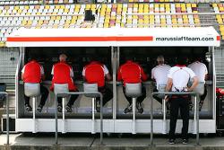 Marussia F1 Team pit gantry