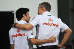 Sergio Pérez, McLaren et Martin Whitmarsh, McLaren