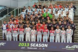Photo de groupe des pilotes WEC 2013