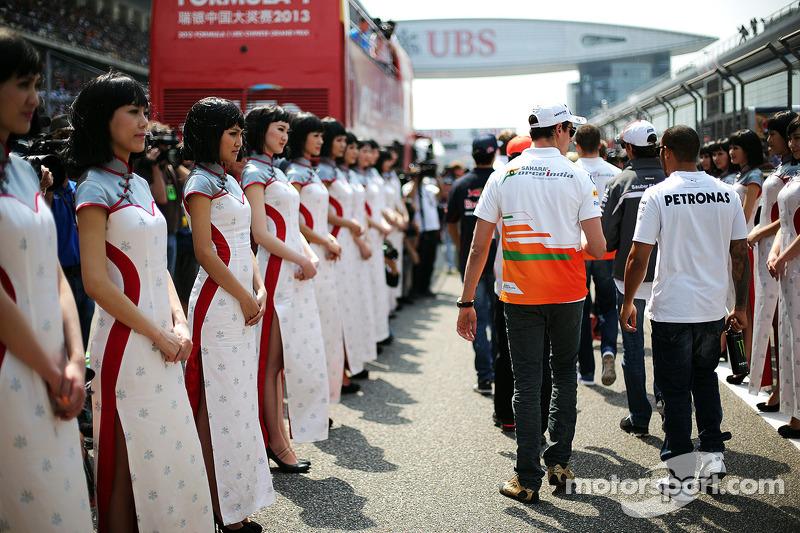 Адриан Сутиль. ГП Китая, Воскресенье, перед гонкой.
