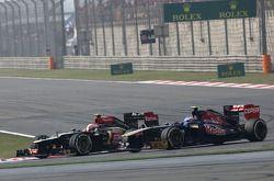 Romain Grosjean, Lotus F1 Team et Jean-Eric Vergne, Scuderia Toro Rosso