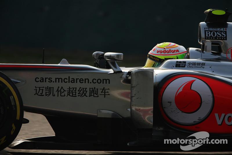 Серхио Перес. ГП Китая, Воскресная гонка.