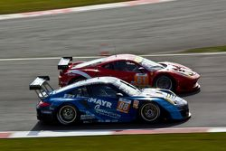 #88 Proton Competition Porsche 911 GT3 RSR: Christian Ried, Gianluca Roda, Paolo Ruberti #61 AF Cors