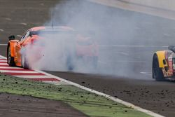 #81 8 Star Motorsports Ferrari 458 Italia having trouble with only minutes remaining