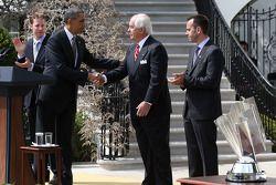 Presidente Barack Obama com Roger Penske