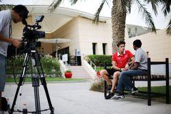 Jules Bianchi, Marussia F1 Team with Sanjeev Palar, FOX Sports / Star Sports Presenter