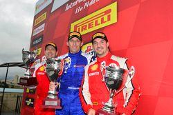 Coppa Shell podium: Henrik Hedman, Marc Muzzo, Brent Lawrence