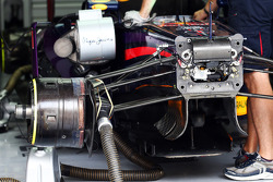 Sebastian Vettel, Red Bull Racing RB9 brake detail