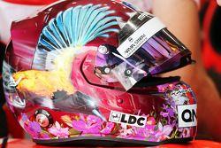 Le casque de Rodolfo Gonzalez, Marussia F1 Team