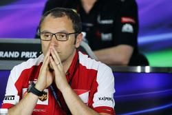 Stefano Domenicali, Diretor Geral da Ferrari na coletiva da FIA