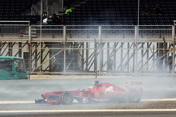 Fernando Alonso, Ferrari F138 spins in the third practice session