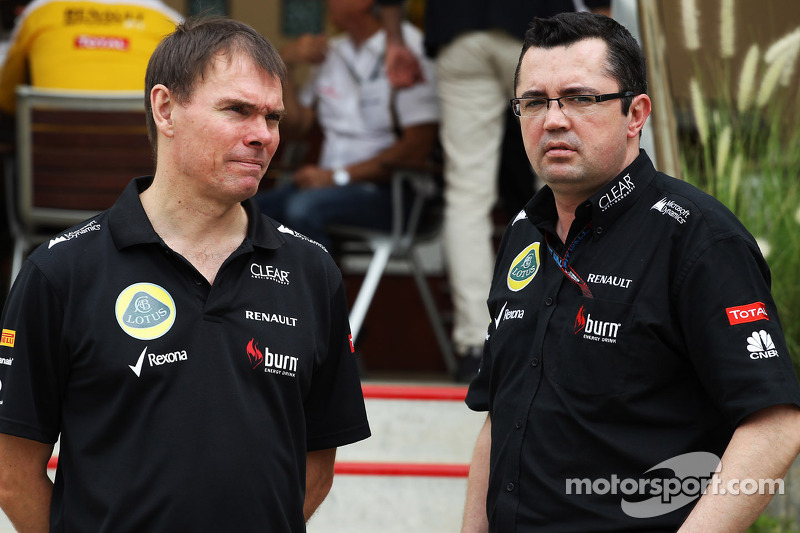 (L to R): Alan Permane, Lotus F1 Team Trackside Operations Director with Eric Boullier, Lotus F1 Tea