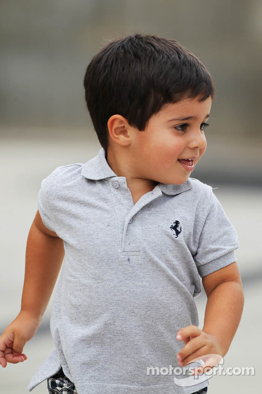 Felipinho, o filho do Felipe Massa, Ferrari