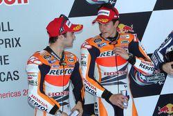 Ganador de la pole Marc Márquez, y e segundo lugar Dani Pedrosa