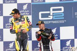 Podium: race winner Sam Bird, second place Felipe Nasr