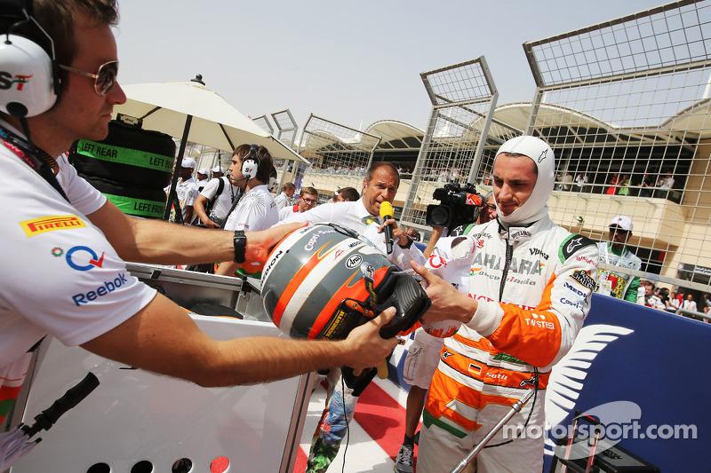 Adrian Sutil, Sahara Force India F1 op de grid