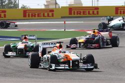 Paul di Resta, Sahara Force India VJM06 and Adrian Sutil, Sahara Force India VJM06
