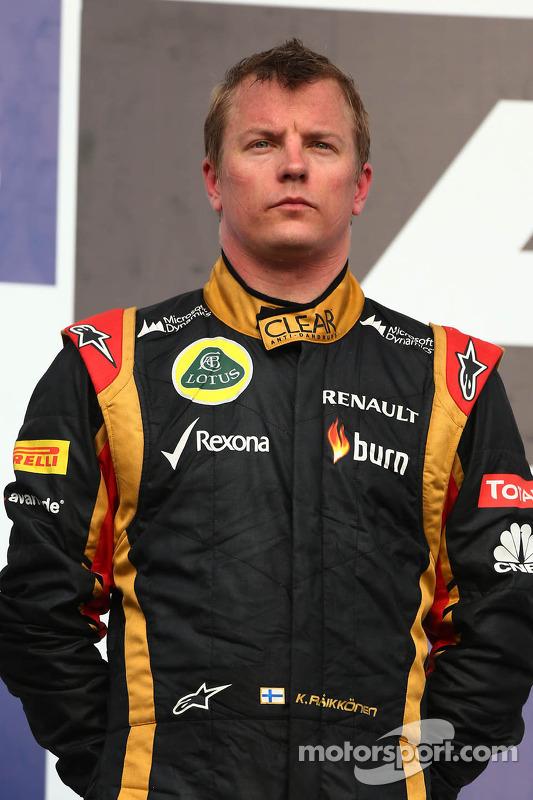 segundo colocado Kimi Raikkonen, Lotus F1 E21