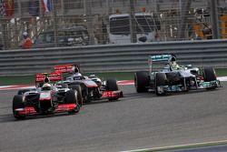 Sergio Perez, McLaren Mercedes ve Jenson Button, McLaren Mercedes