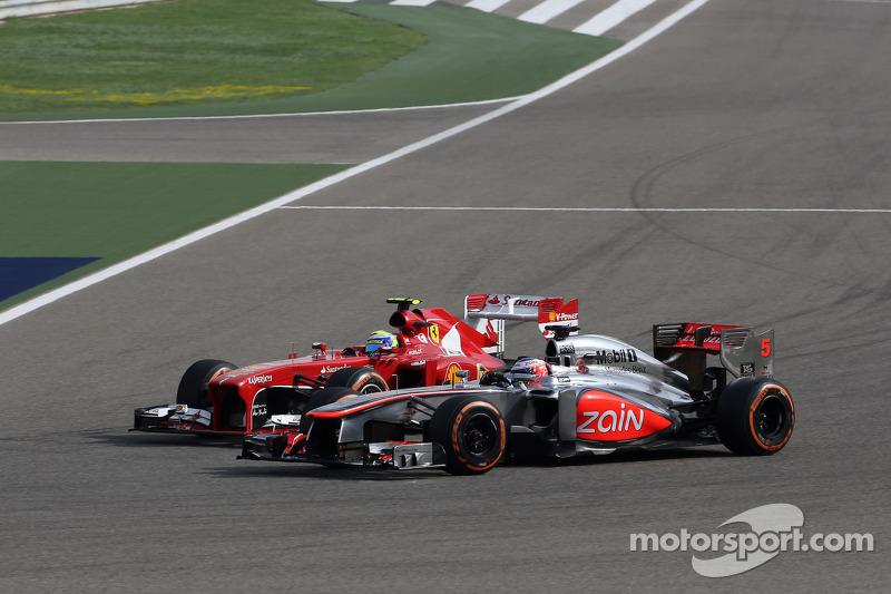 Felipe Massa, Scuderia Ferrari e o Jenson Button, McLaren Mercedes