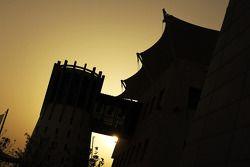 Sun sets over the Bahrain GP