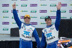 Overall podium: winners Scott Pruett and Memo Rojas