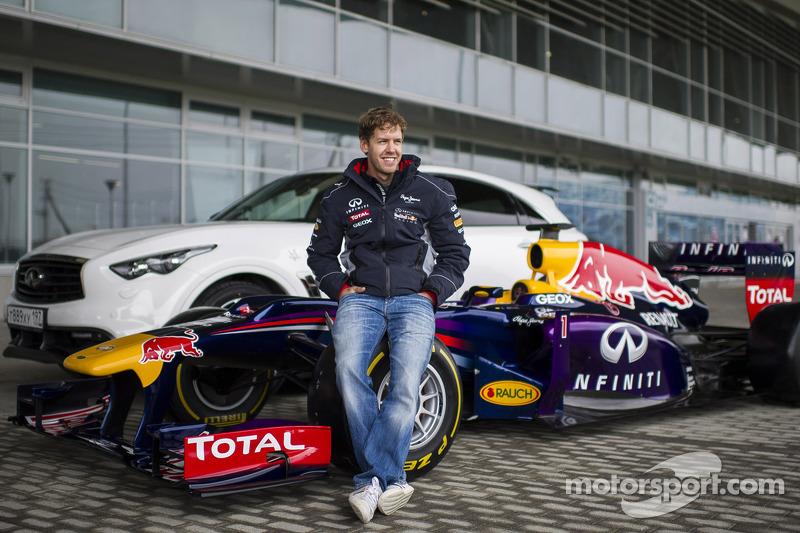 Sebastian Vettel at the Sochi circuit