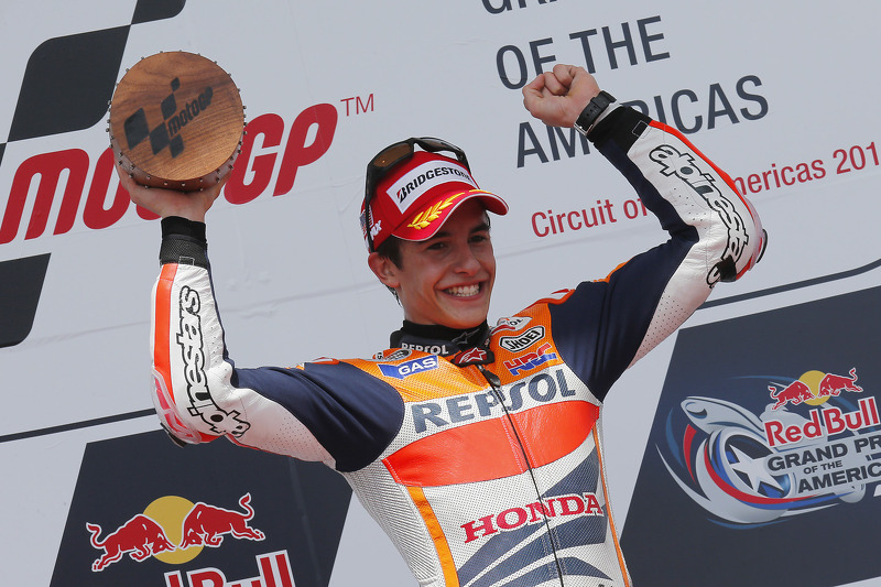 Podium: winner Marc Marquez