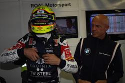 Tom Coronel, BMW E90 320 TC, ROAL Motorsport  and Aldo Preo, Team owner, ROAL Motorsport