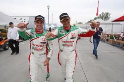 2nd position Tiago Monteiro, Honda Civic Super 2000 TC, Honda Racing Team Jas and Gabriele Tarquini, Honda Civic, Honda Racing Team J.A.S. pole position