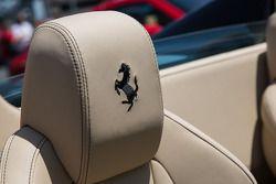 Fine stiching in the Ferrari 458 spyder