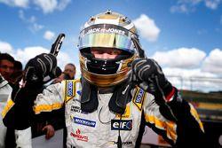 Race winner Kevin Magnussen