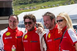 Race #2 TP winners chat after the race (Emmanuel Anassis, Carlos Kauffmann, Mark McKenzie)