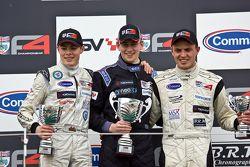 Podium from left: Seb Morris, Jack Barlow and Jake Dalton