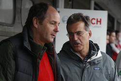 Gerhard Berger y el Dr. Mario Theissen, Anterior Jefe de BMW Motorsport