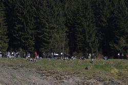 Des fans sur la colline