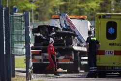 batida de carro de #25 ADR-Delta Oreca 03 Nissan: Tor Graves, Antonio Pizzonia, James Walker