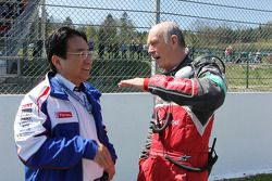 Yoshiaki Kinoshita, Toyota Racing Team President met Dr. Wolfgang Ullrich, Audi Motorsport Team Boss