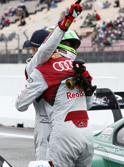 Pole winner Timo Scheider, Audi Sport Team Abt Audi RS 5 DTM with Mattias Ekström, Audi Sport Team Abt Sportsline, Audi RS 5 DTM