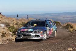 Ricardo Trivino en Alex Haro, Mitsubishi Evo X