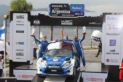 Podium: Abdulaziz Al Kuwari and Killian Duffy, Ford Fiesta
