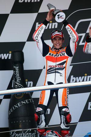 Podio: segundo lugar Marc Márquez, del equipo Repsol Honda