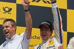 Podium, Bart Mampaey, BMW Team RBM et Augusto Farfus, BMW Team RBM BMW M3 DTM