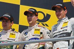 Podium, Augusto Farfus, BMW Team RBM BMW M3 DTM, Dirk Werner, BMW Team Schnitzer BMW M3 DTM et Chris